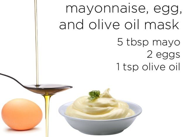 Mayonnaise, Egg, and Olive Oil Mask!