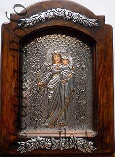 IleArt | Cuadros en Repujado y Óleo: Obras de la Virgen María