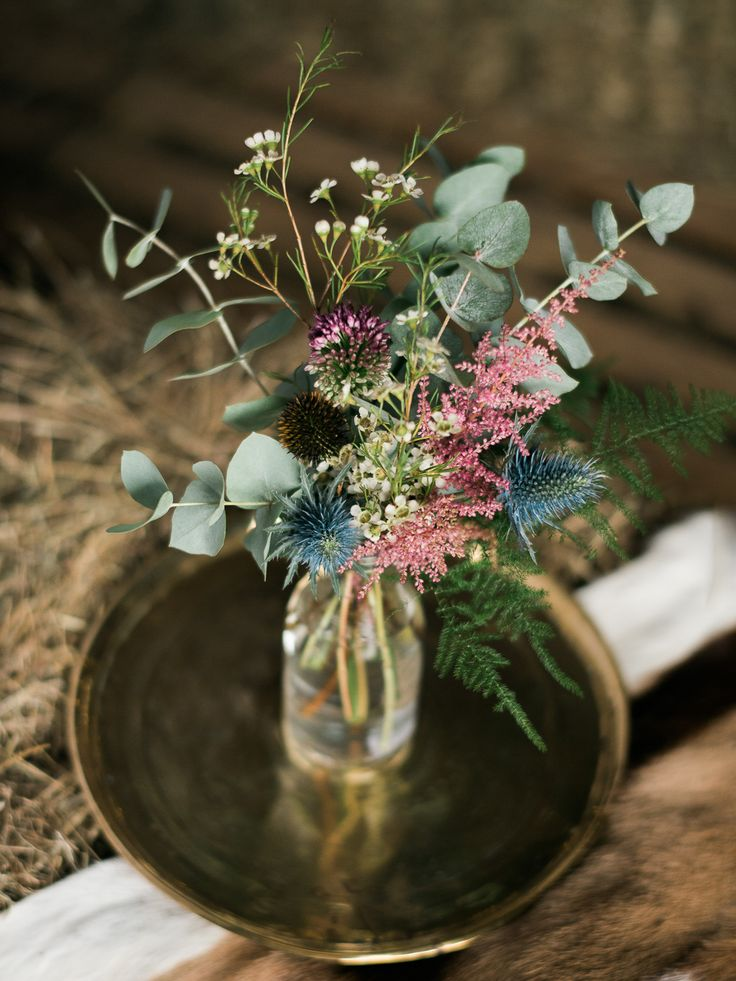 Wild Flower Arrangements | Autumn Wedding Styling Inspiration | Styling By Blue Wren Events | Images From John Barwood Photography | http://www.rockmywedding.co.uk/outdoor-autumnal-romance/