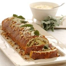 Cheese and Parsnip Roulade with Sage and Onion Stuffing - Delia Smith