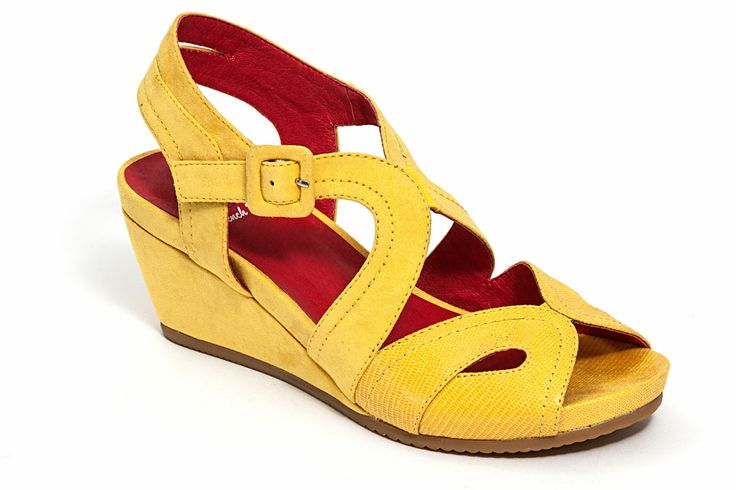 01a6a448e50d73 Look what I found on French Blu Yellow Black-Jack Platform Sandal by French  Blu