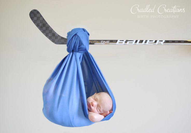 Newborn Hockey Stick #sling #boy #cradledcreations