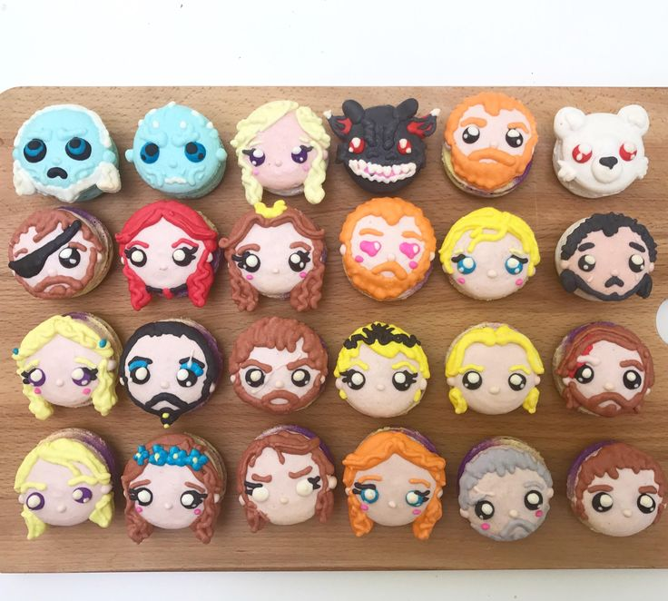 [MAIN SPOILERS] My wife made Game of Thrones character macarons. Can you name them all?