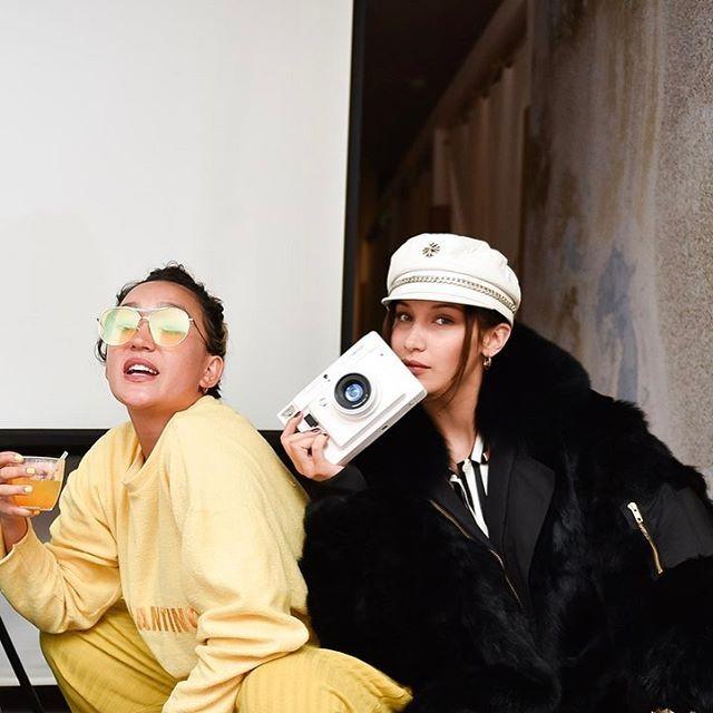 """Alana O'Herlihy and Bella Hadid at the Morgan Lane x Spring party in New York City """