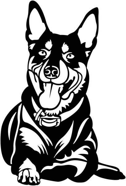 Kelpie Dog Dxfforcnc Com Dxf Files Cut Ready Cnc