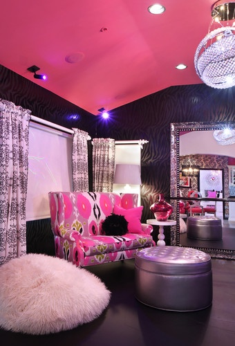 glam dance studio contemporary living room