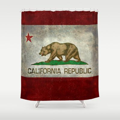 State flag of California Shower Curtain by LonestarDesigns2020 - Flags Designs + - $68.00