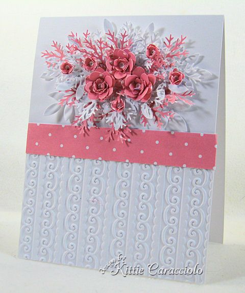 Pink Polka Dot Flowers by kittie747 - Cards and Paper Crafts at Splitcoaststampers