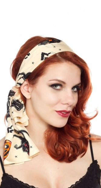 The Bad Girl Cats Scarf is a must have, and scarves have got to be the most affordable way to spice up your pin up wardrobe!