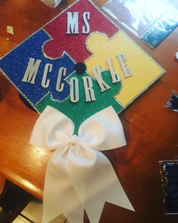 Autism Awareness Graduation Cap Special Education Teacher #autismawareness #autism #graduationcap #graduationhat
