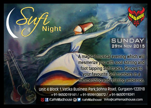 Caffe Mad House brings the best of sufi music, so come and indulge yourself with the soulful music and go sufiyana.  #SundaySufi #SoulfulSufiyana