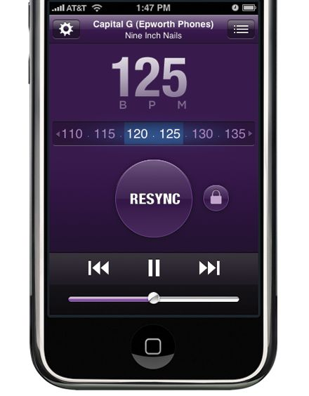 Sync Step generates a playlist to match your heart rate. Perfect for working out!