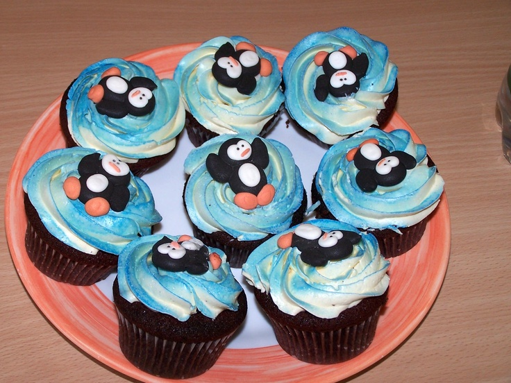 Penguin Cupcakes Cupcake Penguin Winter Christmas