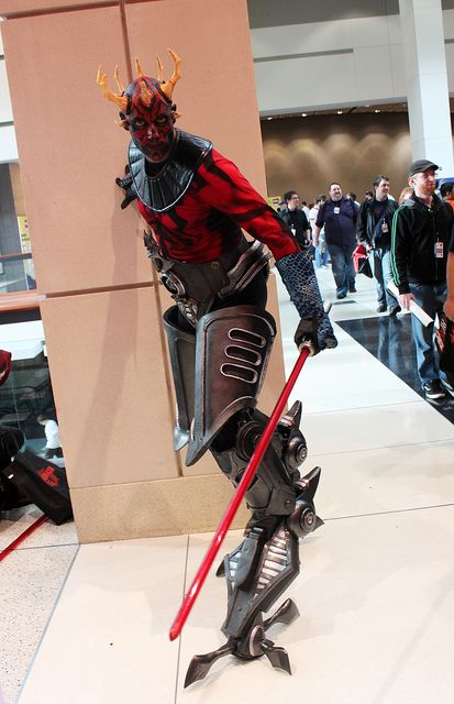 Clone Wars Darth Maul<---I wish there was video of this dude walking around. I'm pretty sure he's holding onto the wall for support.