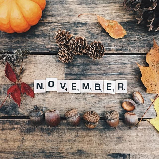 welcome, november.