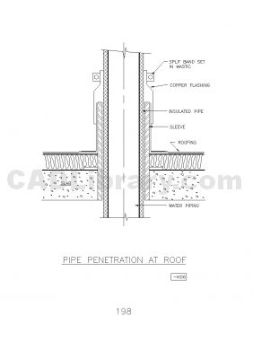 Matchless Conduit wall penetration detail dwg this rather