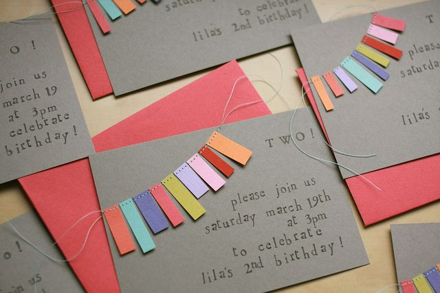 How cute are these invites! Simple but so fun!! <3 #DIY #kidphotog