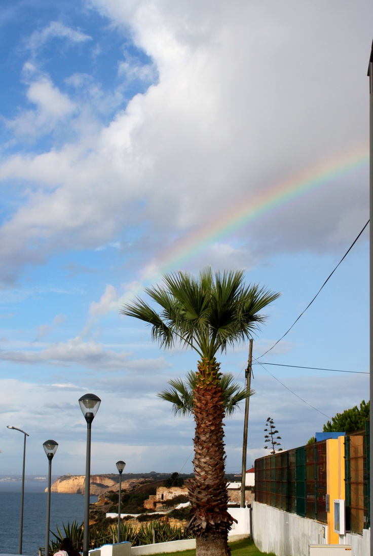 #rainbow over #carvoeiro this morning - beautiful #algarve