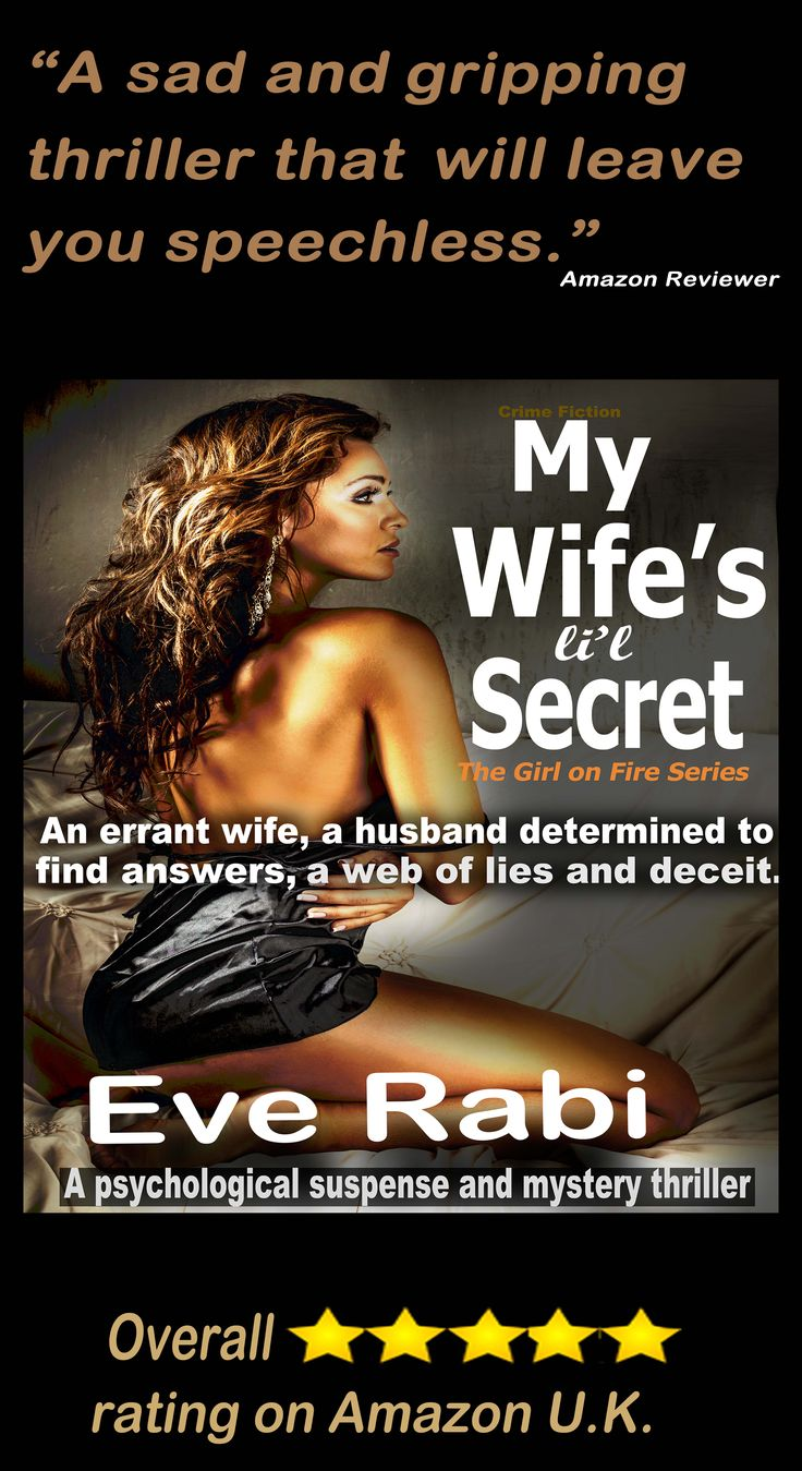 "#books #RomanticSuspense #Reading #GoodBooks #CrimeFiction #PinterestBooks #Kindle #CrimeThrillers ... …………….. ""Finished this book around 2 a.m. this morning. Absolutely BRILLIANT! I discovered Eve Rabi a few weeks ago, and haven't stopped reading her books."" Amazon Reviewer"