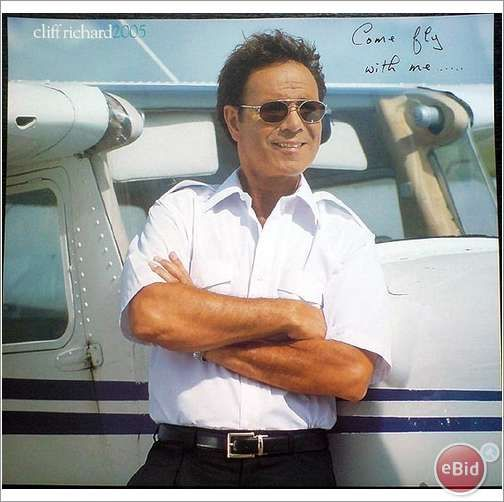 Cliff Richard pin up poster 26 pilot and his plane