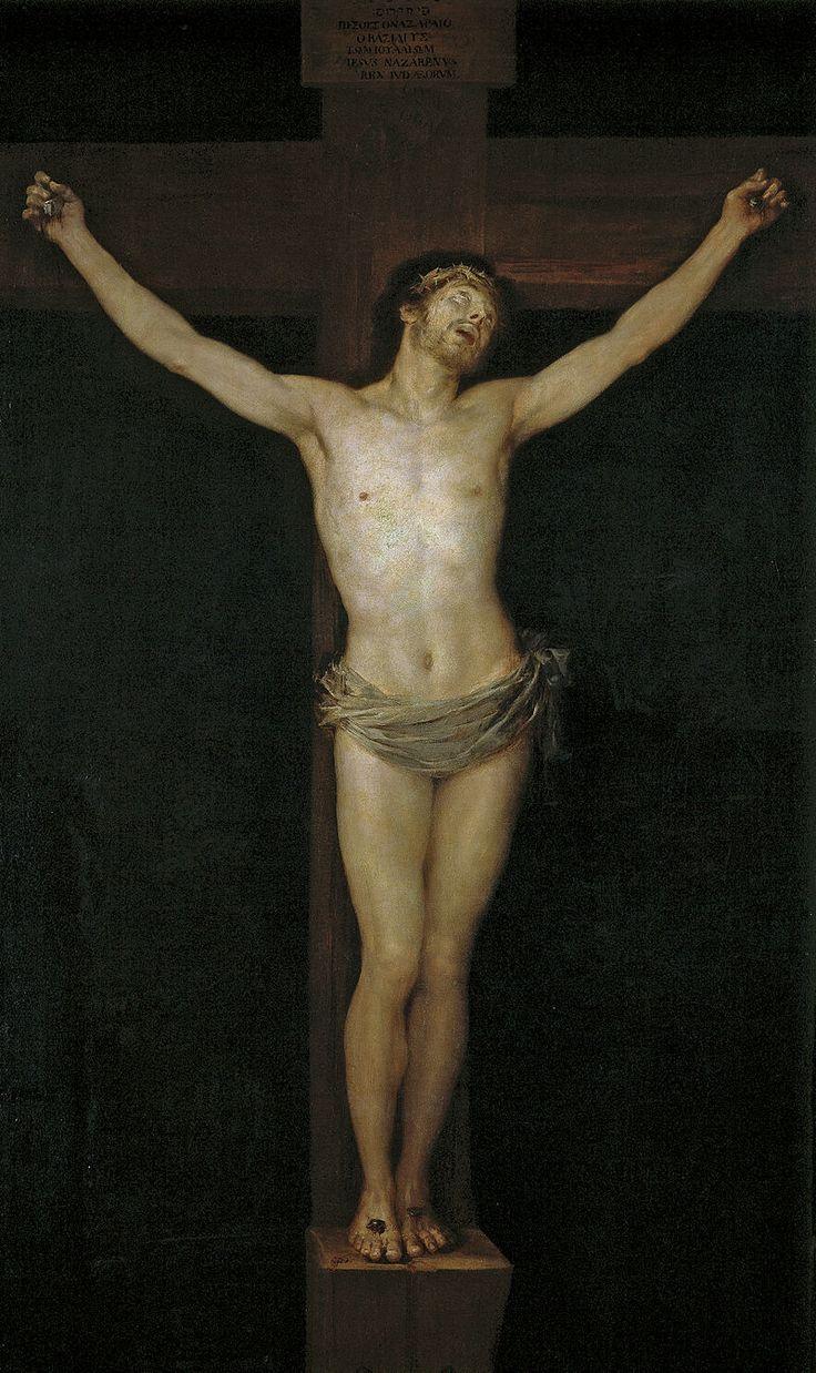 El Cristo crucificado (1780) es un óleo sobre lienzo de Francisco de Goya presentado con motivo de su ingreso como académico en la Real Academia de Bellas Artes de San Fernando el 5 de julio de 1780. Forma parte de la colección permanente del Museo del Prado. Se trata de un Cristo de estilo neoclásico, relacionado con el Cristo de Velázquez y el de Anton Raphael Mengs, aunque sin el fondo de paisaje de este último, sustituido por un negro neutro. 255 cm × 154 cm
