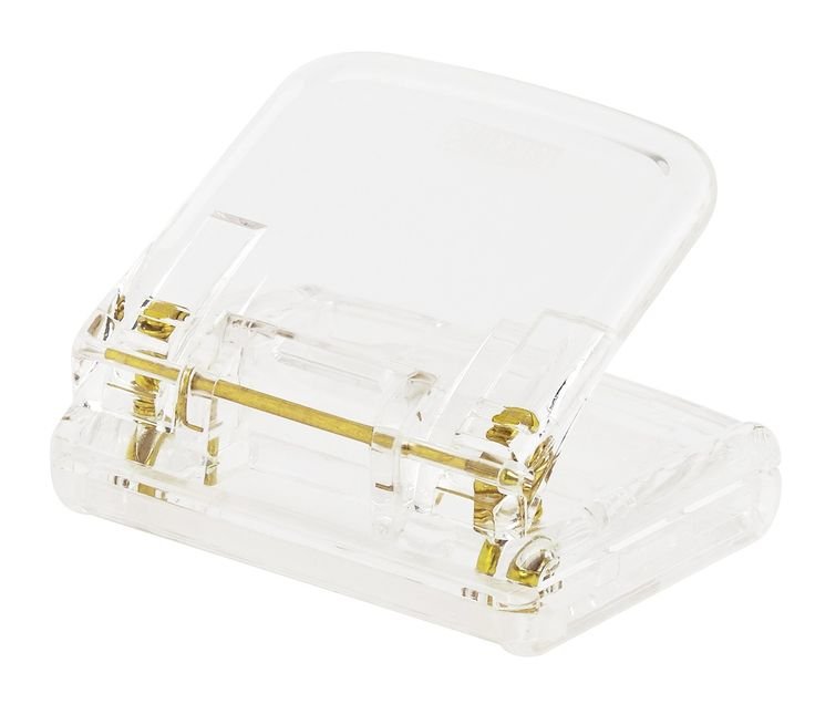Update your workspace and get organised in style with this Acrylic Hole Punch featuring accents of metallic gold. The adjustable paper size measure makes it so easy to hole punch all of your important documents to add into folders. Match with gold Stapler, Tape Dispenser and Pencil Cup to complete the look.