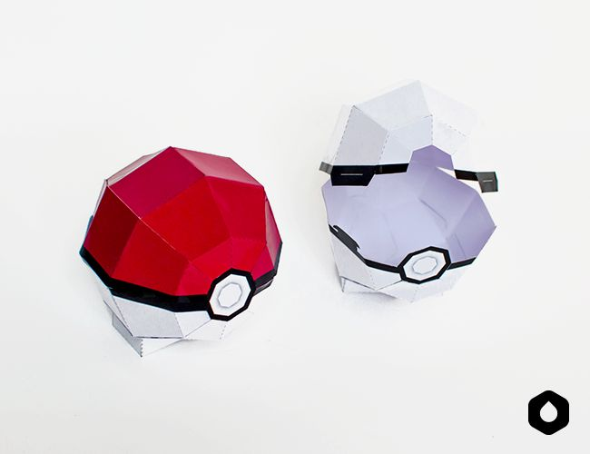 La Pokeball Papertoy / paper craft PokemonGo (fan art) - DIY + free printable