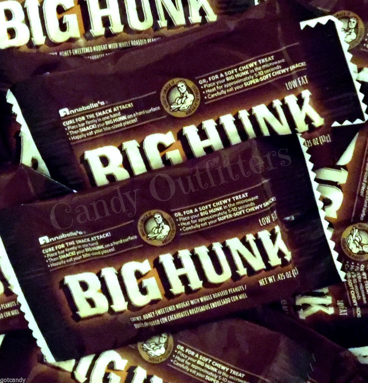 Annabelle's BIG HUNK Snack Size Bars - Low Fat Candy - Nostalgic Candies - 5.4oz #Annabelles