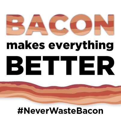 Simply pledge to never waste bacon and you could be one of 10 lucky winners to receive a year's supply of FREE bacon! There's also tons of great bacon gear to be won.  What are you waiting for? Pledge to never waste bacon!