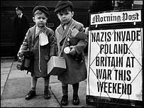 Nazis Invade Poland. Britain At War This Weekend. Evacuees from London