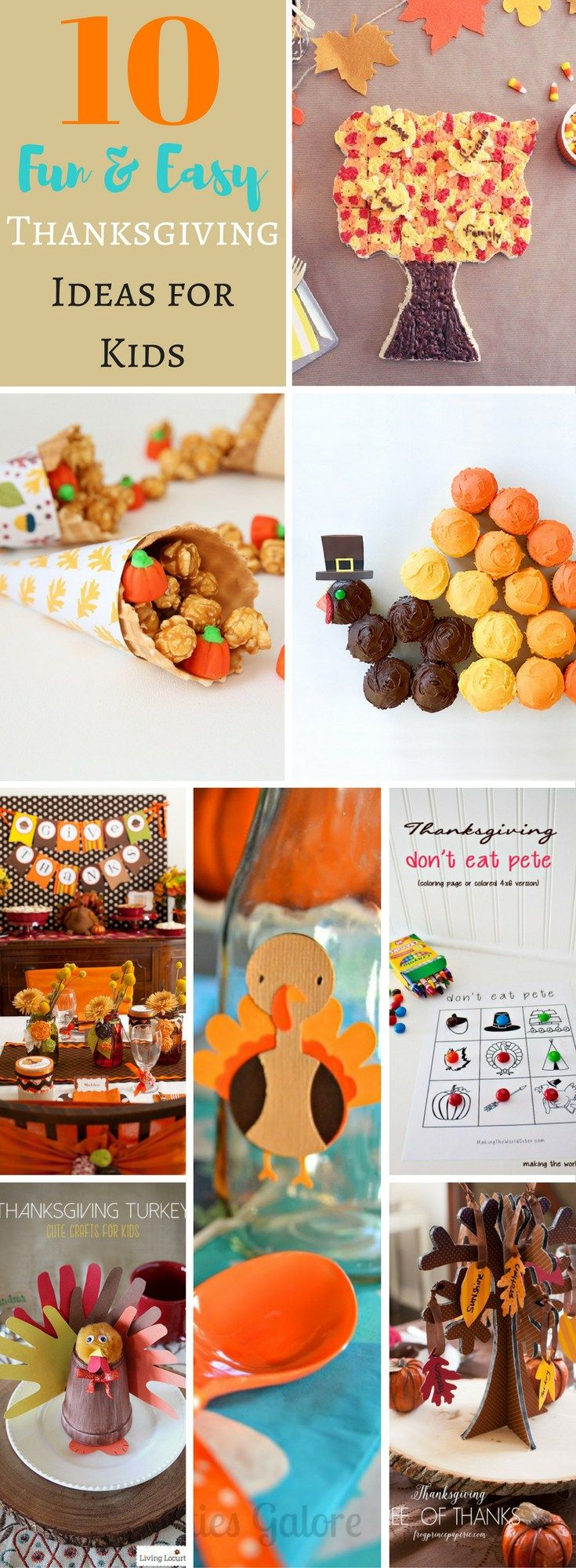 You're going to want to sit at the Kids' table this year with these 10 clever and fun Thanksgiving ideas! Treats, decor and more!