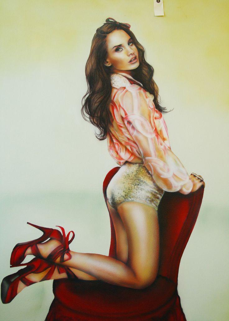 Tarryn Gordon: Fine Art lana del rey pin up painting ...