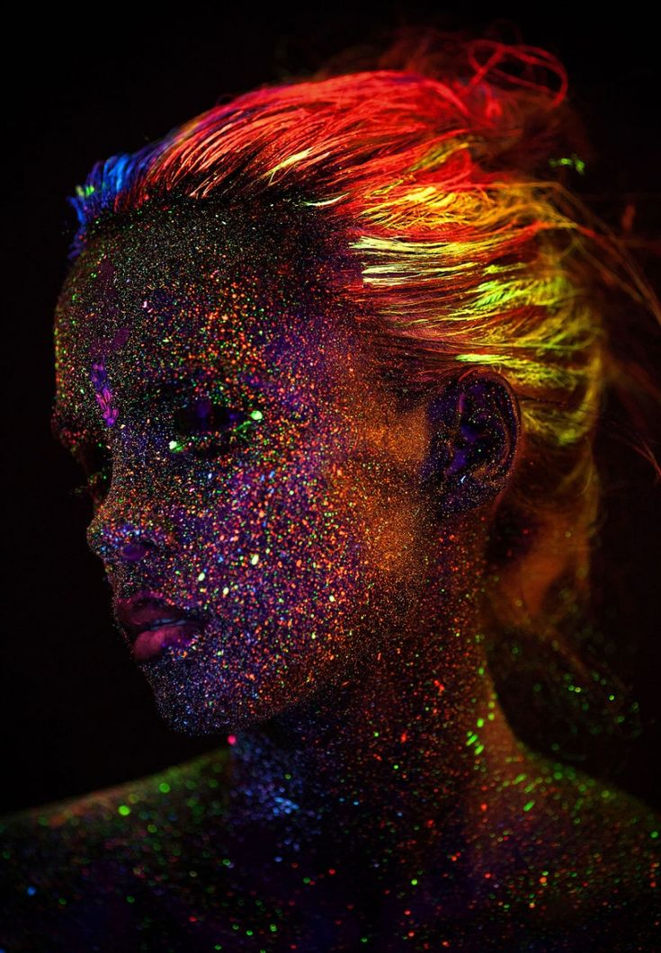 Experimental portraits with UV lighting and a rainbow of fluorescent paints | Creative Boom