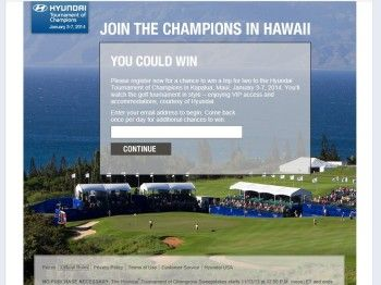 Hyundai Tournament of Champions Sweepstakes