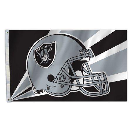 OAK Raiders Helmet 3X5 Flag, Multicolor