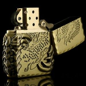Japanese Brass Tribal Dragon Zippo Limited Edition Lighter
