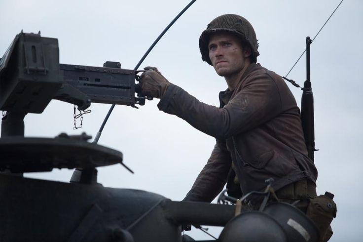 "Sergeant Miles (Scott Eastwood) mans a gun in ""Fury."""