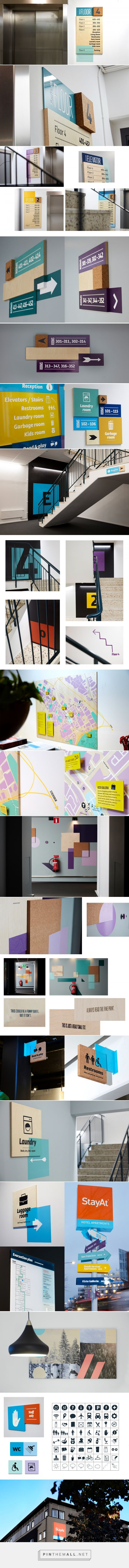 StayAt – Wayfinding & Branded Environment on Behance - created via https://pinthemall.net