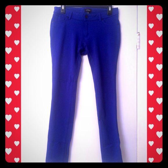 3 for $22 Cobalt blue skinny pants Cobalt blue skinny pants, stretchy and comfy.  Cool cobalt color. Feel like jeggings. Pants