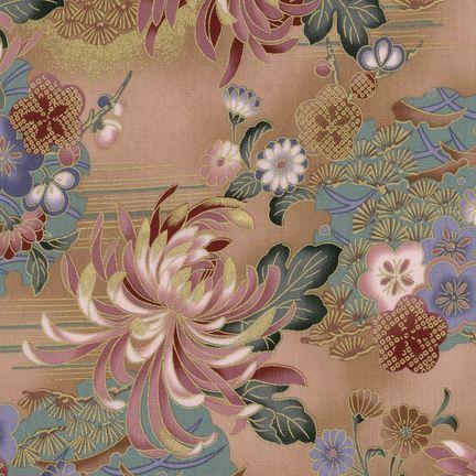 Robert Kaufman Fabrics: HRK-551102L-1 from Hyakkaryouran Sateen