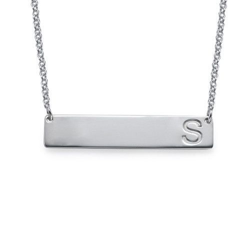 Bar Necklaces are trending and this lovely Sterling Silver Bar Necklace is a great addition to your jewelry collection.
