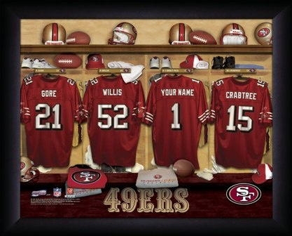 Locker RoomChild Room, Lockers Room, 49Ers Nfl, Football Lockers, Rec Room, 49Ers Man Caves, Room Prints, San Francisco 49Ers, Prints San Francisco Nfl