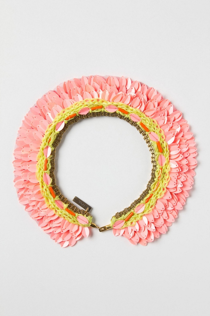 Kinda in love with this! Printemps Sequin Collar - #Anthropologie