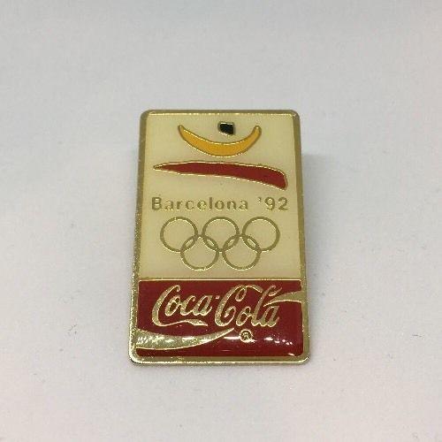 Vintage-1992-Olympics-Barcelona-Spain-Coca-Cola-Sponsor-Pin-Excellent-Condition