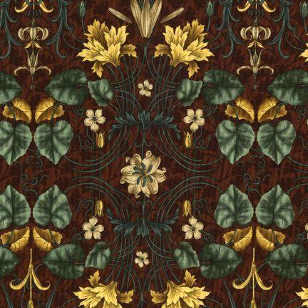Robert Kaufman Fabrics: EY-4821-6 SPICE from Jardin Nouveau
