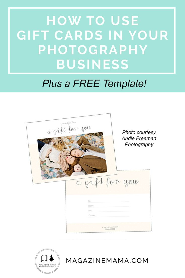 Photography gift certificates are a great way to get more for How to get gift cards for your business