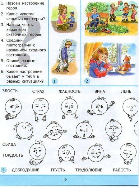 Словарь чувств и эмоций в картинках