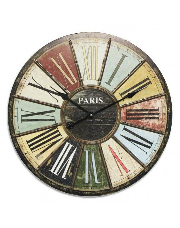 "Metallic Wall Clock ""COLOURS"" 60 cm"