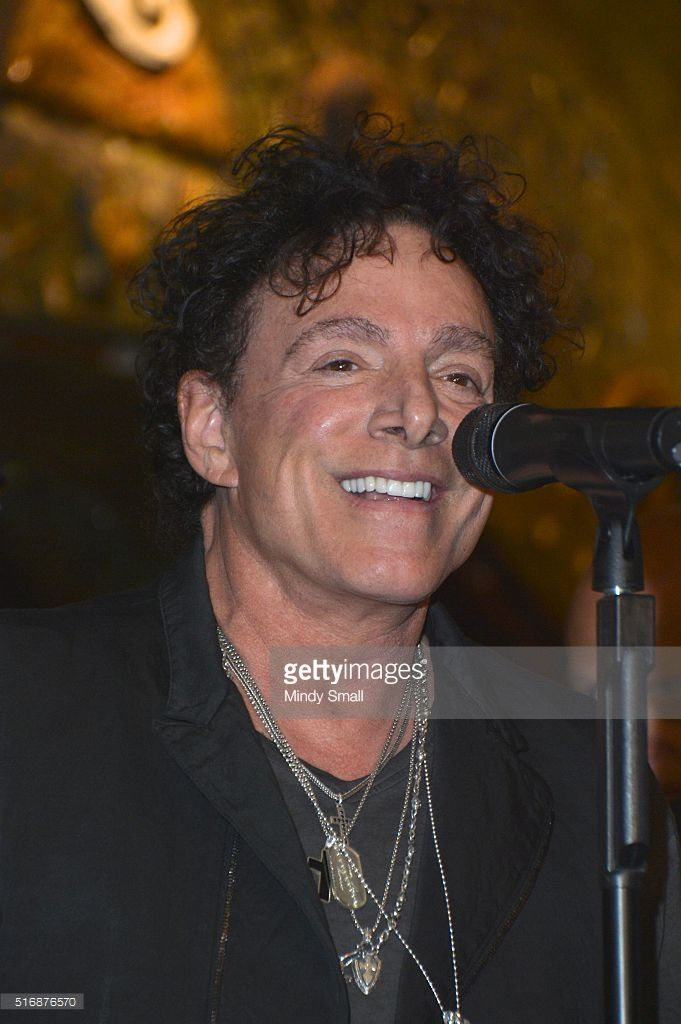 Singer/guitarist Neal Schon speaks during a news conference featuring the original Santana band lineup at the House of Blues Las Vegas inside the Mandalay Bay Resort and Casino on March 21, 2016 in Las Vegas, Nevada.