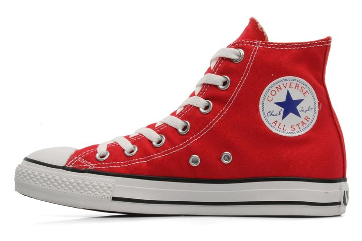 Des Converse rouges, pour aller avec mon mom's jean taille haute
